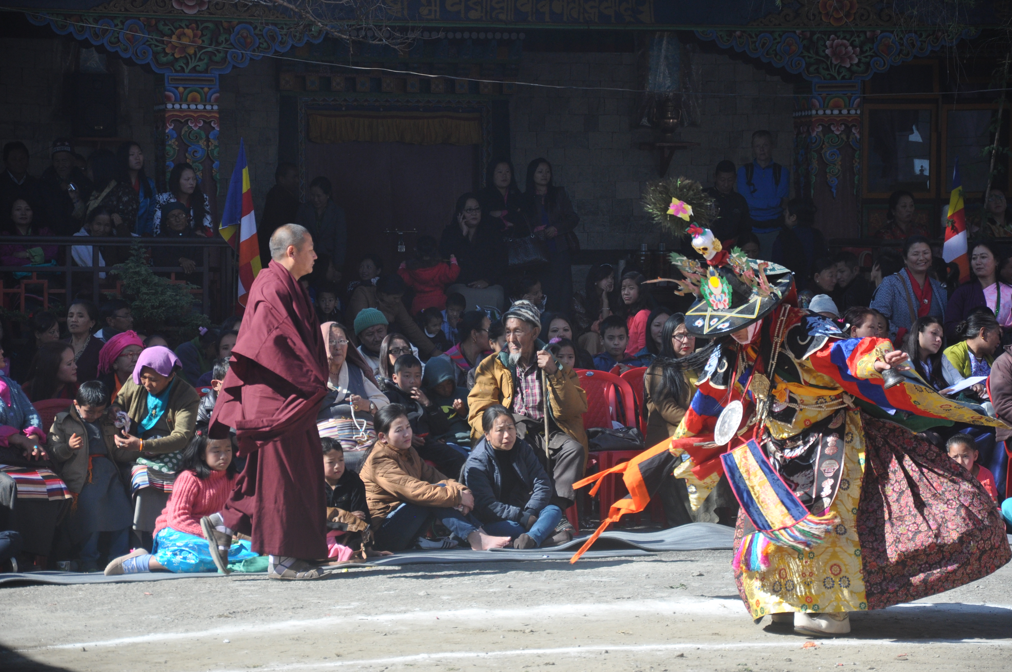 Black hat dance  at Enchey Monastery, Gangtok